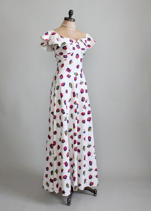 1940s cotton dance day dress