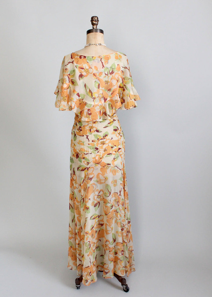 1930s chiffon party dress