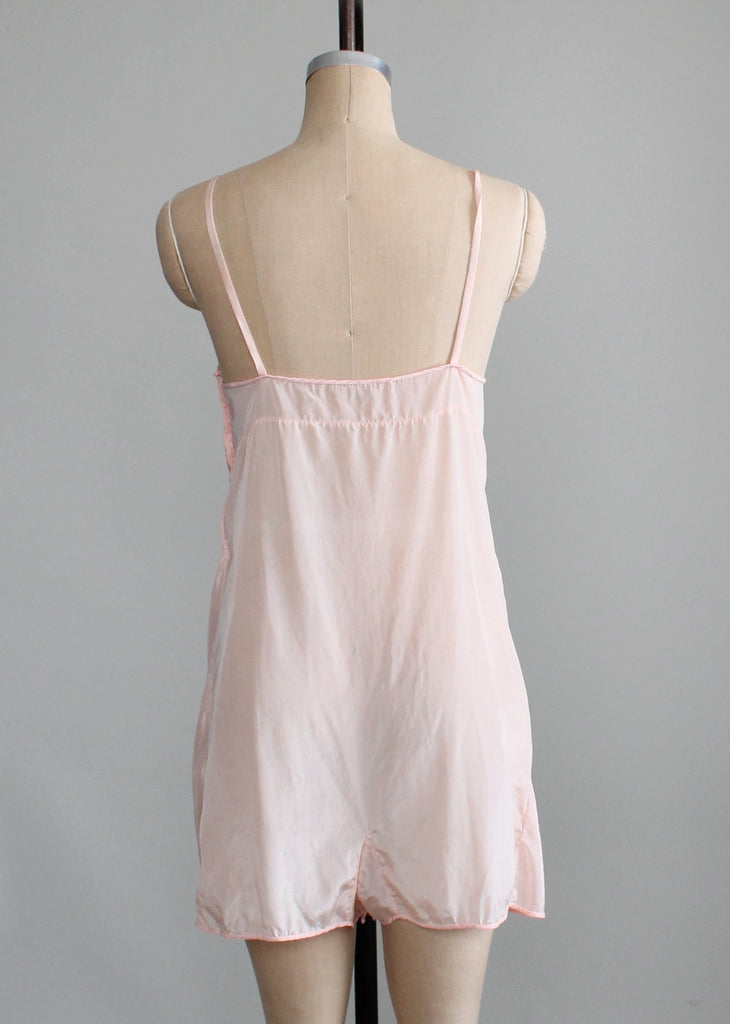 Vintage 1930s Simple Floral Step In Lingerie