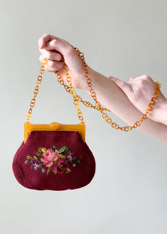 1930s Needlepoint Purse