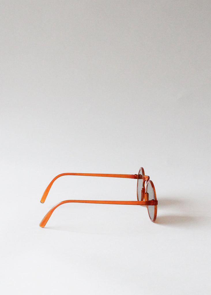 Vintage 1940s Orange Round Sunglasses
