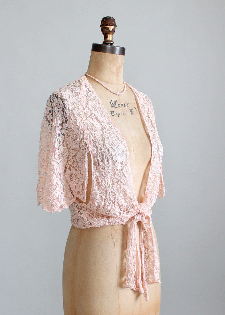 1930s Pink Lace Jacket