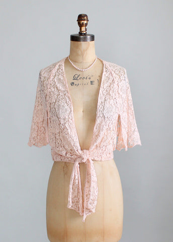1930s Lace Dress Jacket
