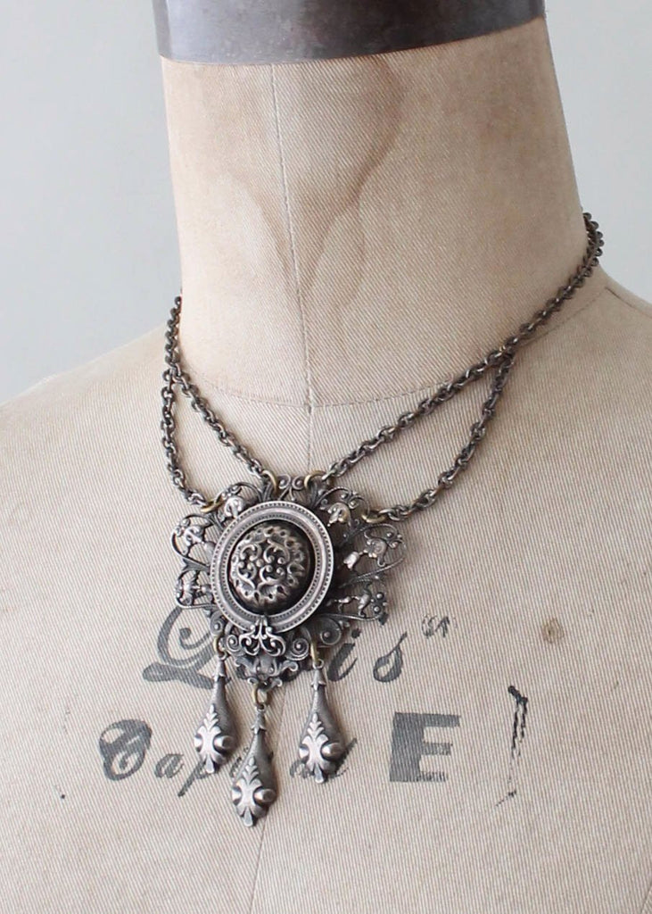 Vintage 1930s Medallion Necklace