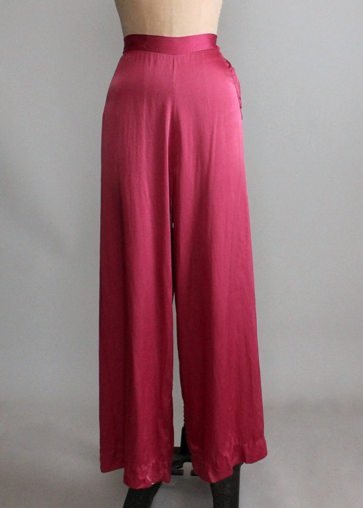 Vintage 1930s Barbizon Top and Pants Lounging Pajamas