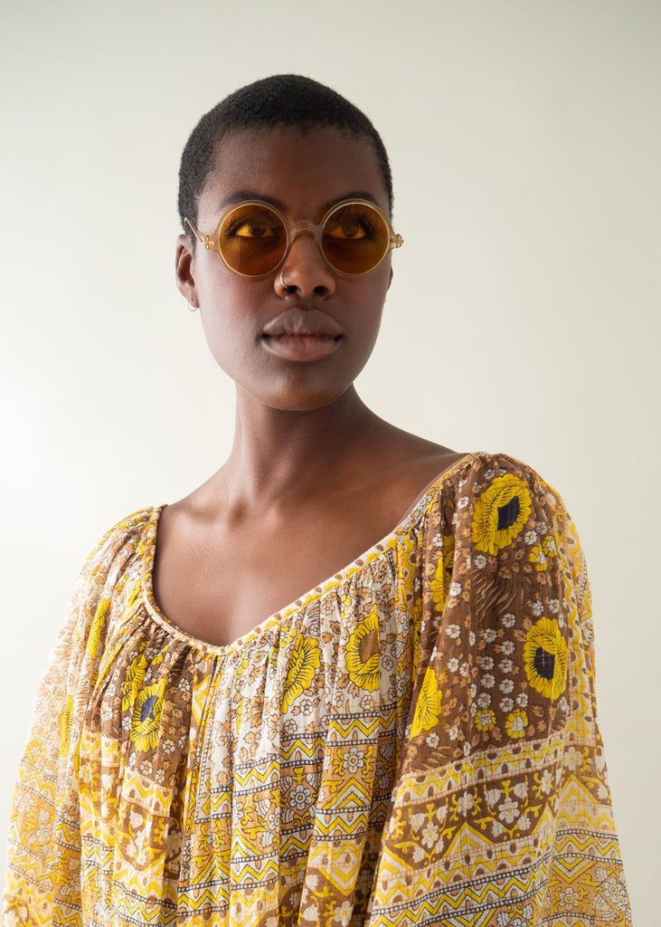 Vintage 1930s Yellow Driving Sunglasses