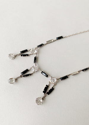 Vintage 1930s Deco Black and White Necklace