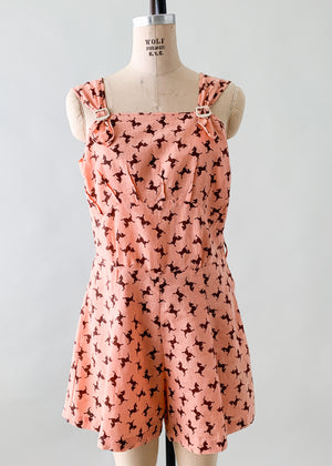 Vintage 1930s Tiny Horses Playsuit
