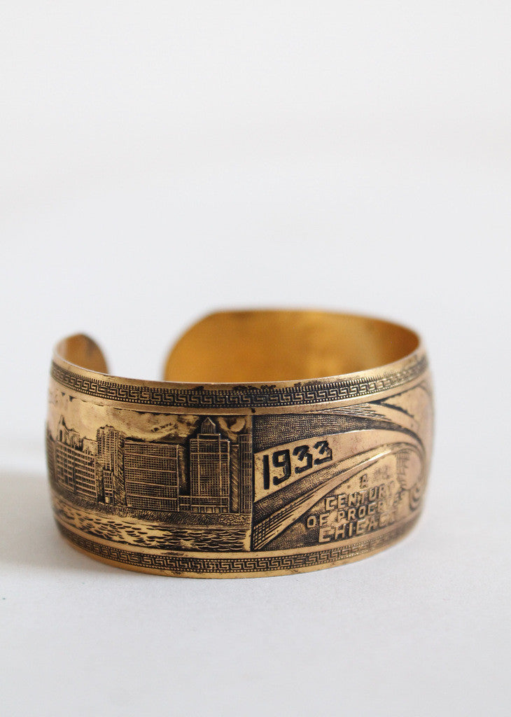 Vintage 1933 Chicago World's Fair Souvenir Bracelet