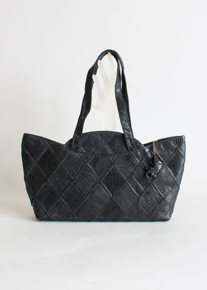 1940s Black Lizard Skin Purse