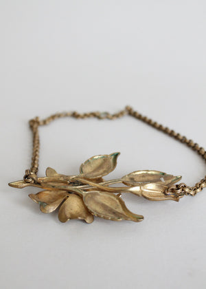 Vintage 1930s 1940s brass jewelry