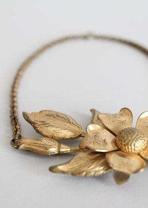 Vintage Art Deco flower necklace