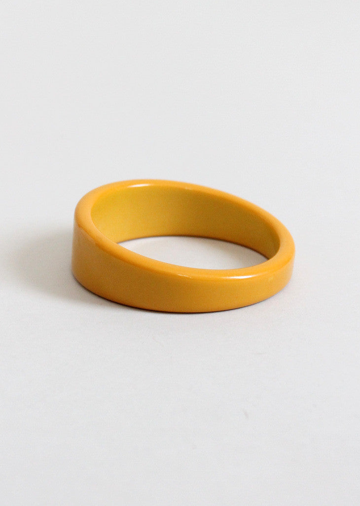 Vintage 1940s Butterscotch Asymmetrical Bangle Bracelet