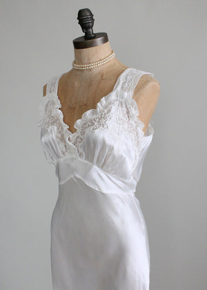 Vintage 1940s Forty Winks Silk and Lace Nightgown