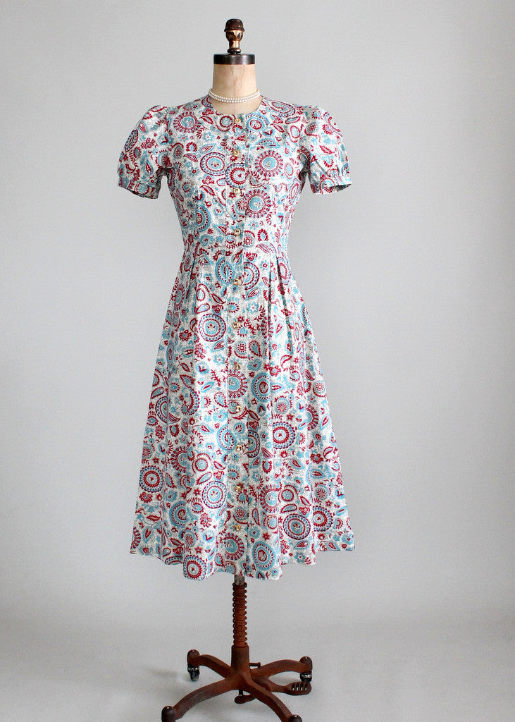 1940s Jacqueline Shaw Day Dress
