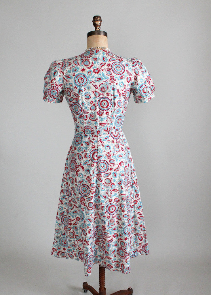 Vintage 1940s Jacqueline Shaw Day Dress - Deadstock