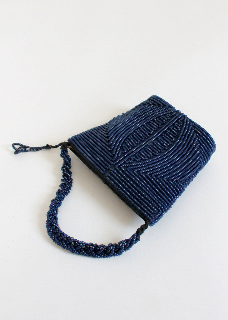 Vintage 1940s Telephone Cord Purse