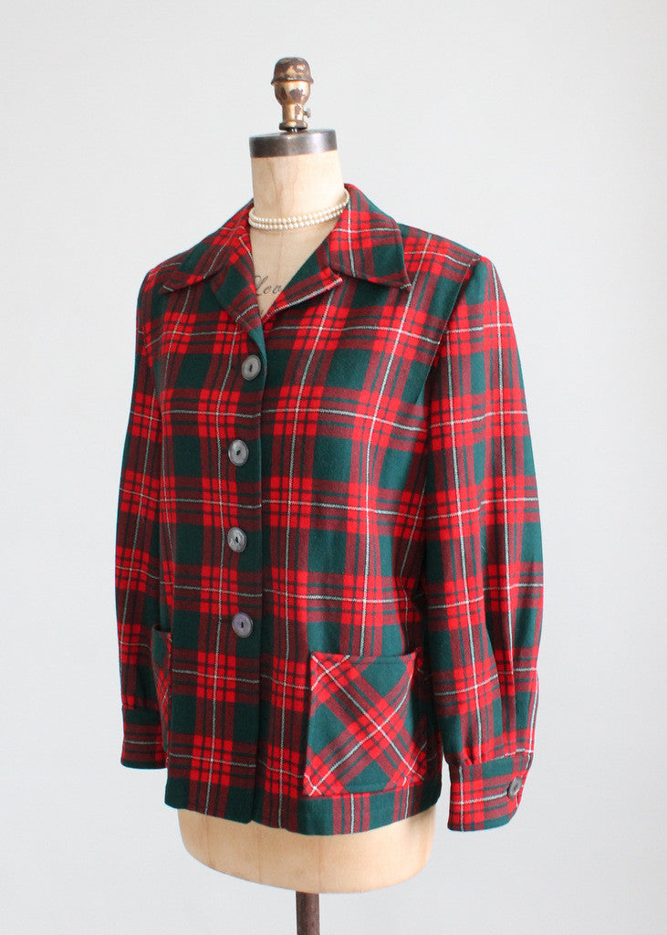 Vintage 1940s Pendleton Plaid 49er Jacket