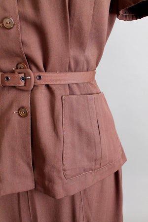 Vintage Early 1940s GabaLora Collegiate Suit