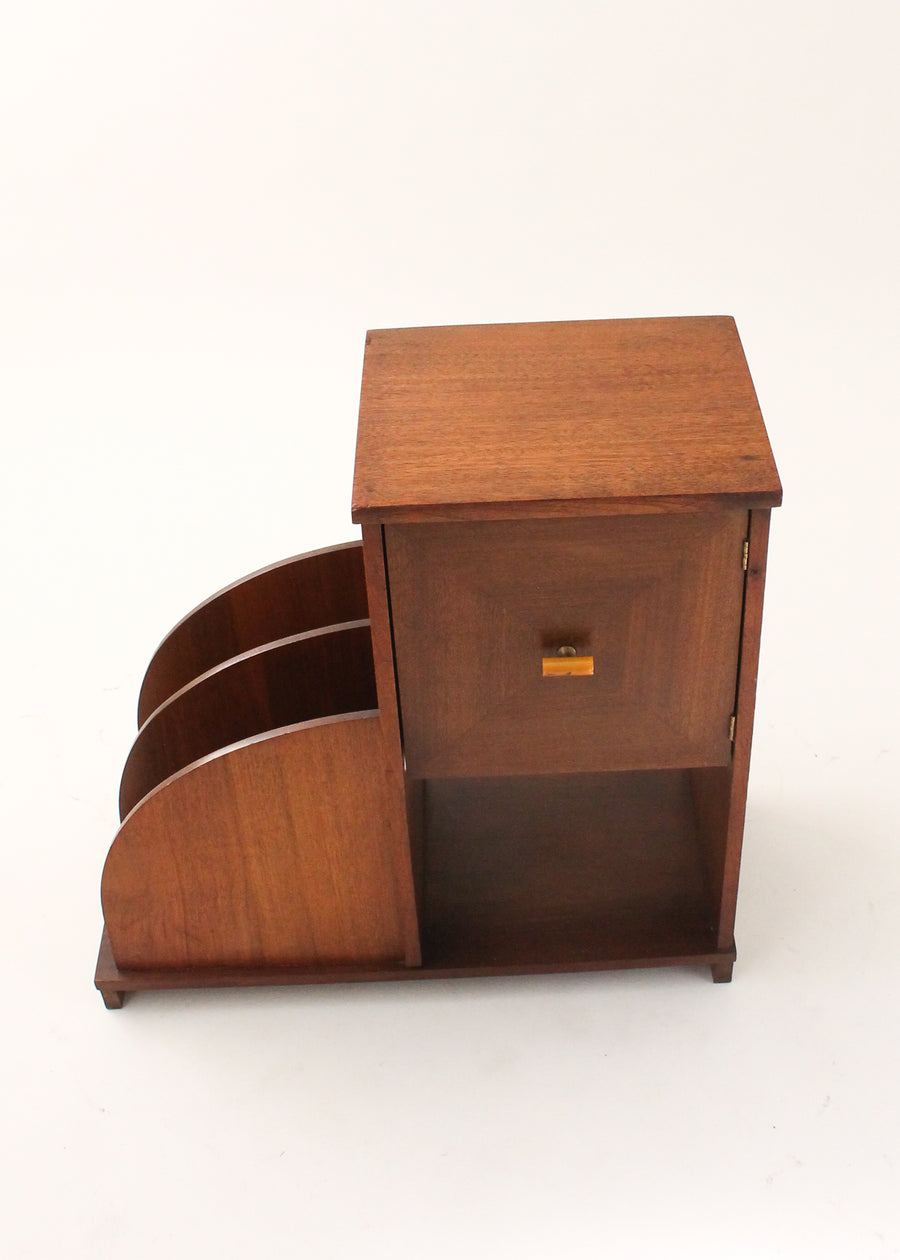 Vintage Art Deco Side Table with Humidor