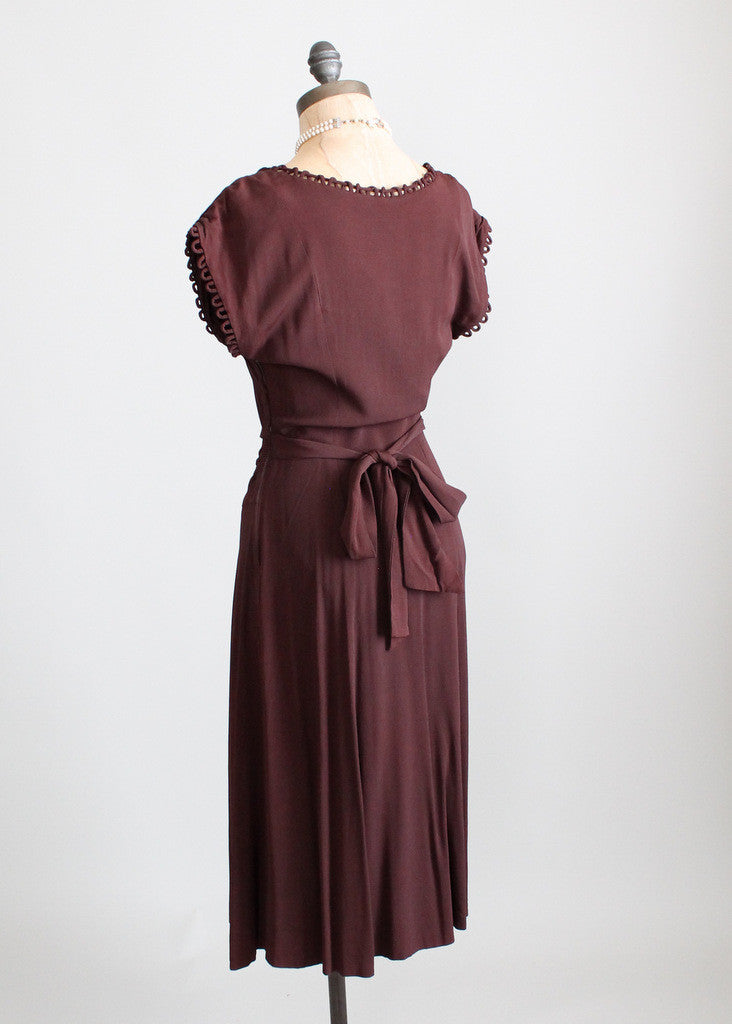 Vintage 1940s swing dance dress