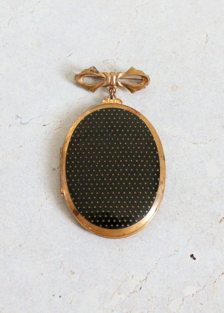 Vintage 1940s Large Sweetheart Locket Brooch