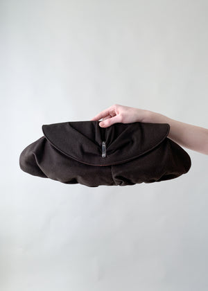 Vintage 1940s Oversized Wool Clutch