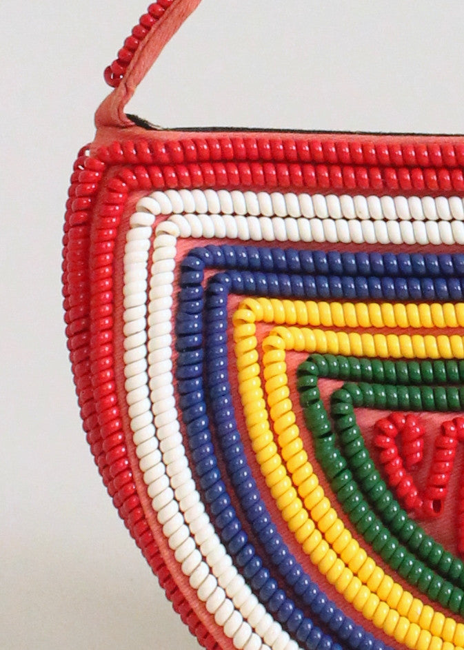 Vintage 1940s Primary Colors Telephone Cord Purse