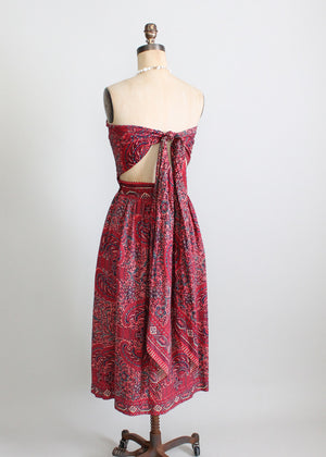 Vintage 1940s red sundress