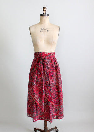 Vintage 1940s cotton skirt