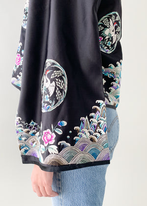 Vintage 1930s Chinese Embroidered Silk Jacket