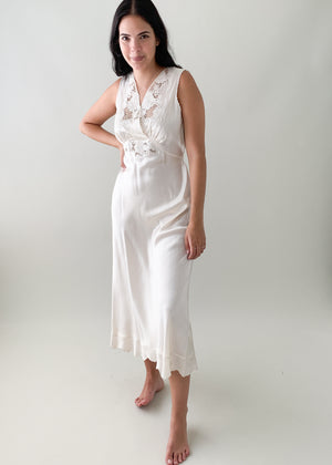 Vintage 1940s Satin Slip Dress
