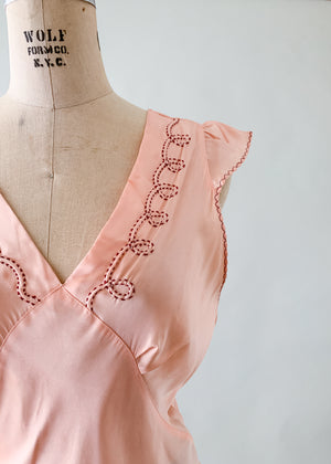 Vintage 1940s Rayon Top