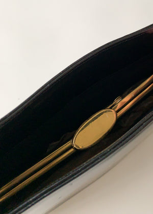 Vintage 1960s Round Leather Purse