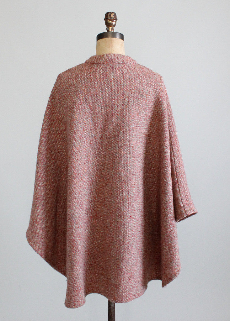 Vintage Early 1960s Anglo Fabrics Tweed Cape
