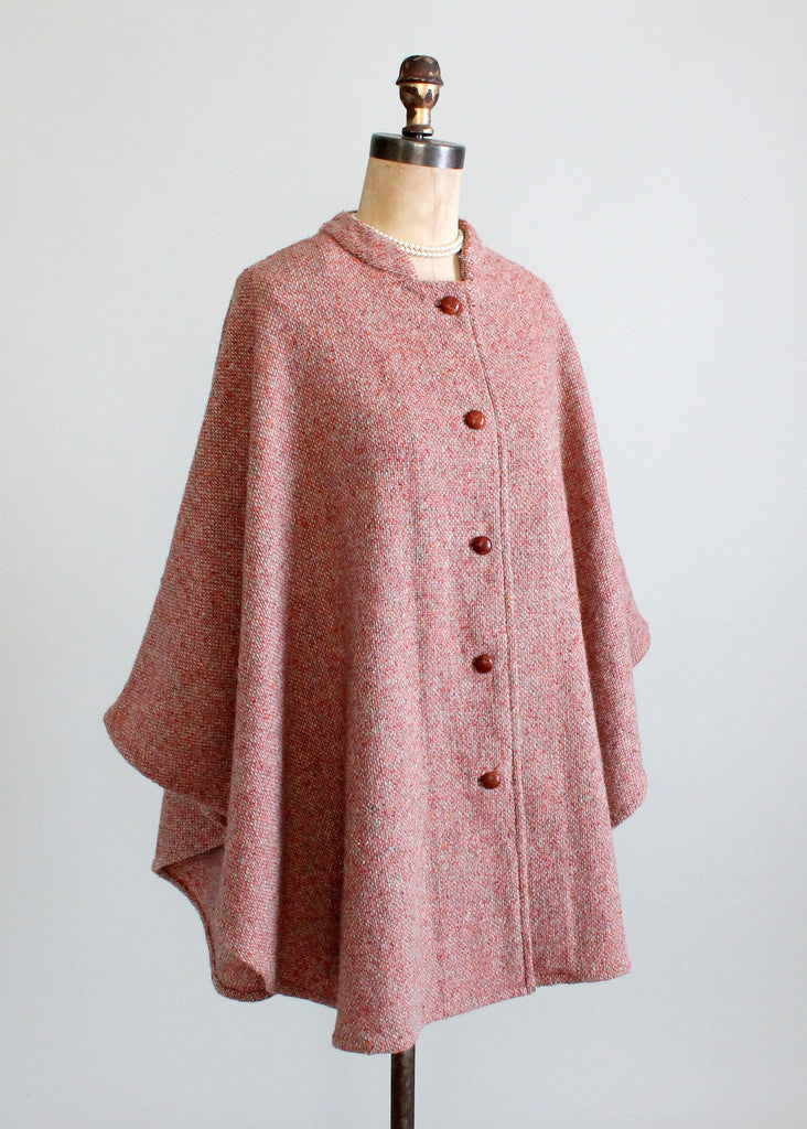 Vintage 1960s Tweed Cape