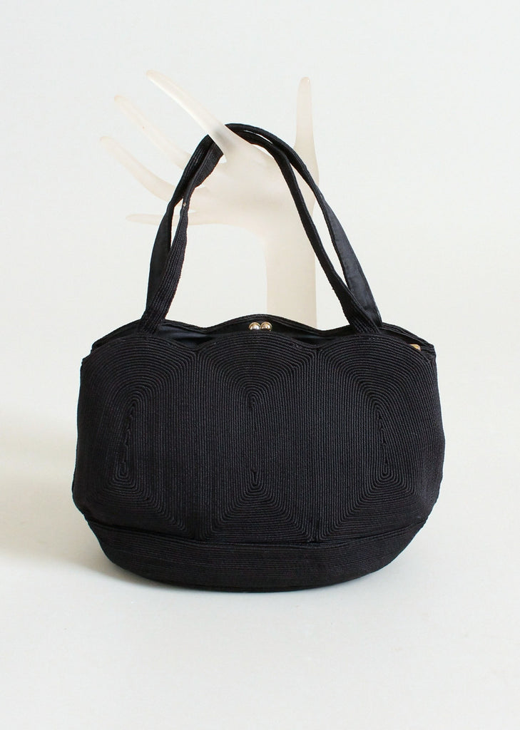 Vintage 1950s Navy Corde Cordicraft purse
