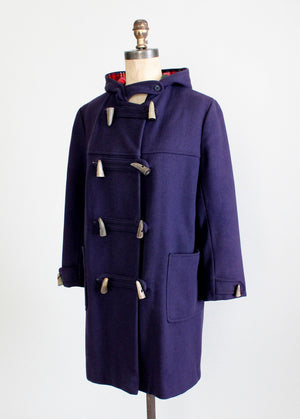 1960s Hooded Duffle Coat