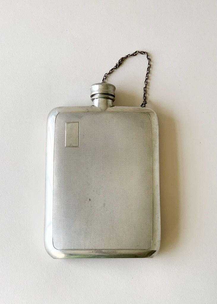 Vintage 1930s English Sheffield Metal Flask