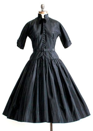 Vintage 1950s Gigi Young Black Party Dress
