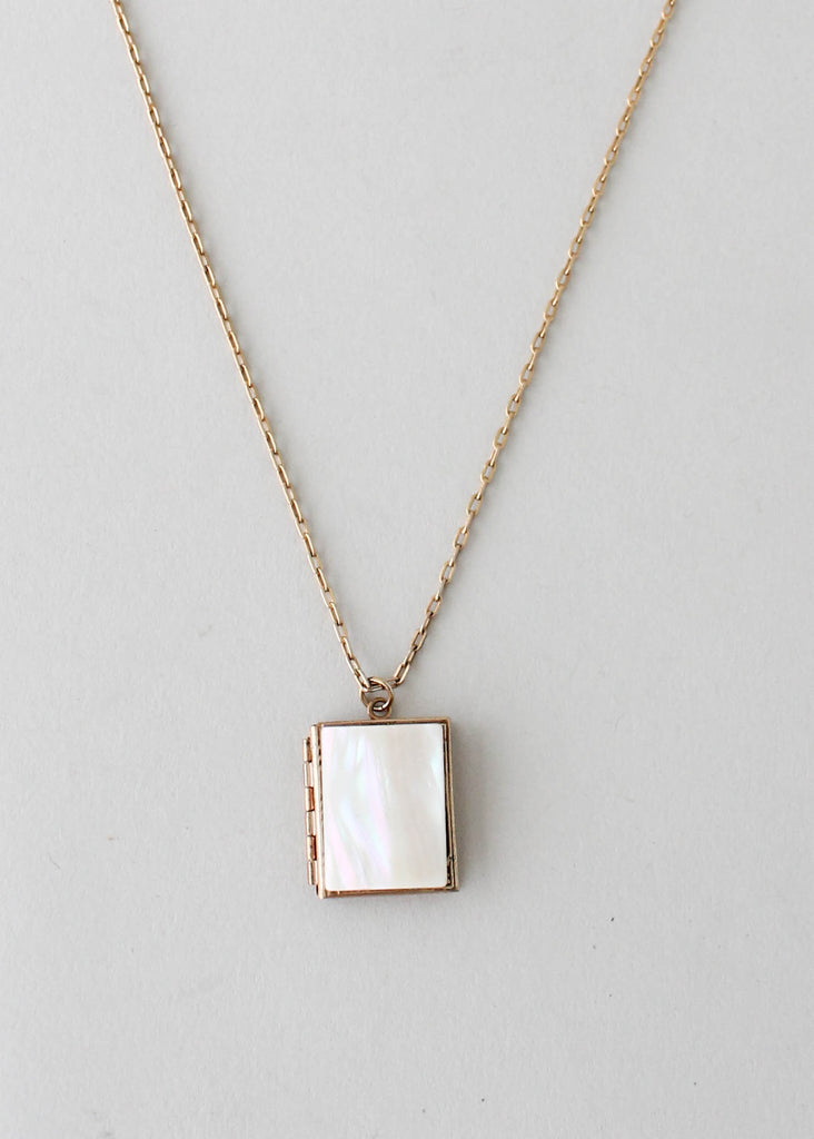 Vintage 1950s mother of pearl book locket necklace raleigh vintage vintage 1950s mother of pearl book locket necklace aloadofball Choice Image