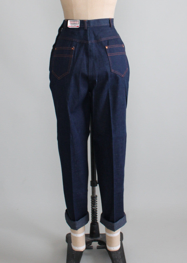 Vintage 1950s Stockton Rockabilly Denim Jeans NOS