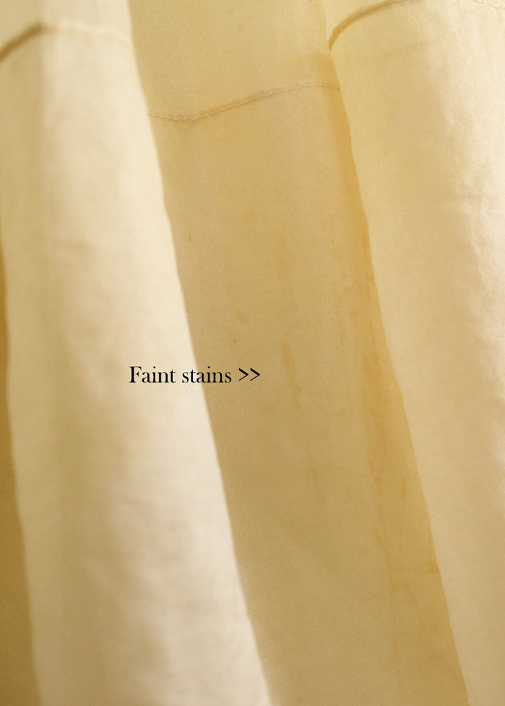 Vintage 1950s Pastel Yellow Organdy Prom Dress