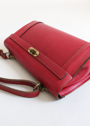 Vintage 1950s Maroon Red Leather Purse