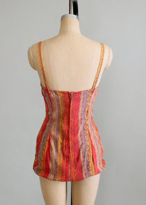 Vintage 1950s Paisley Stripes Roxanne Swimsuit