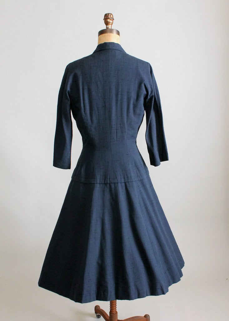 Vintage 1950s Suzy Perette New Look Silk Coat Dress