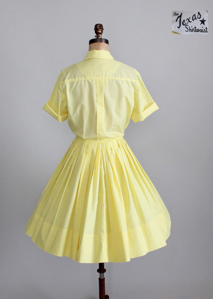 Vintage 1950s Texas shirtwaist dress