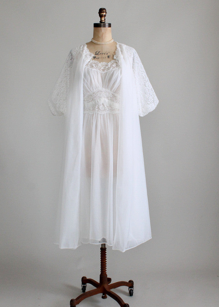 1950s Vanity Fair Wedding Peignoir Set