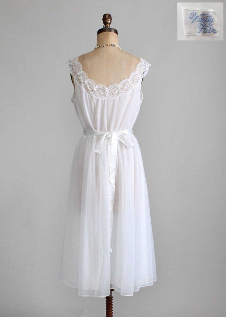Vintage 1950s Vanity Fair Wedding Peignoir Set