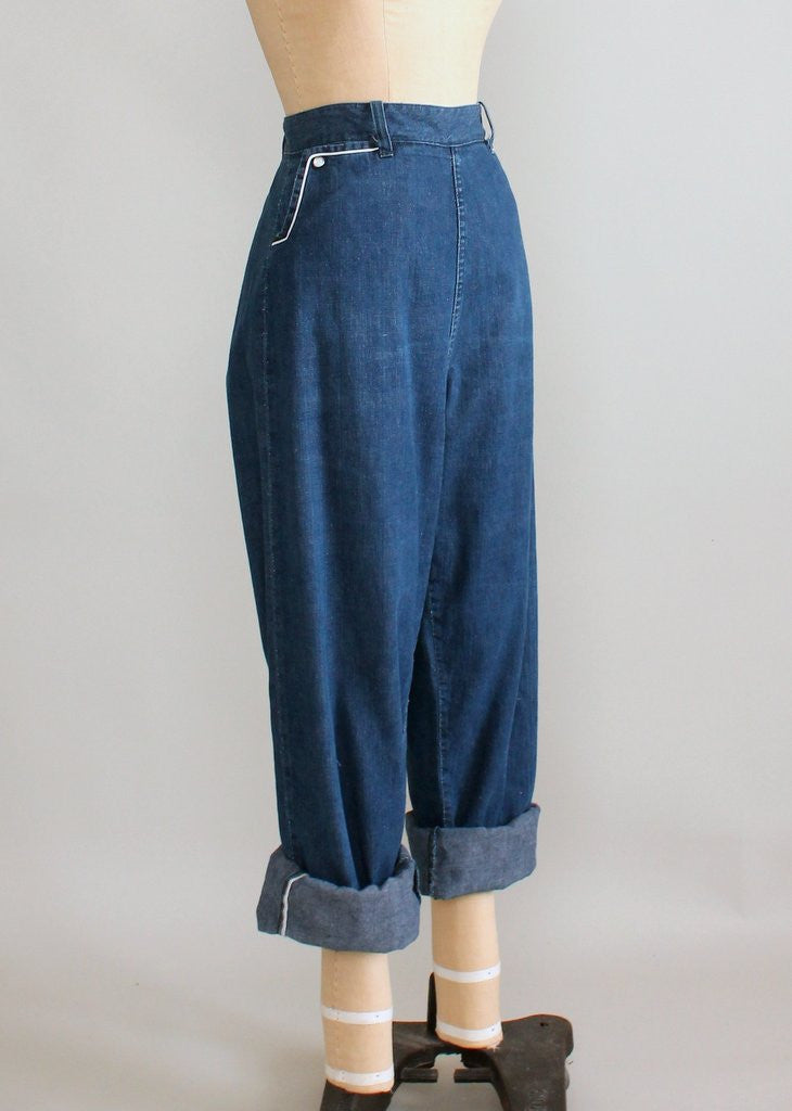 Vintage 1950s Snap Pocket Rockabilly Jeans
